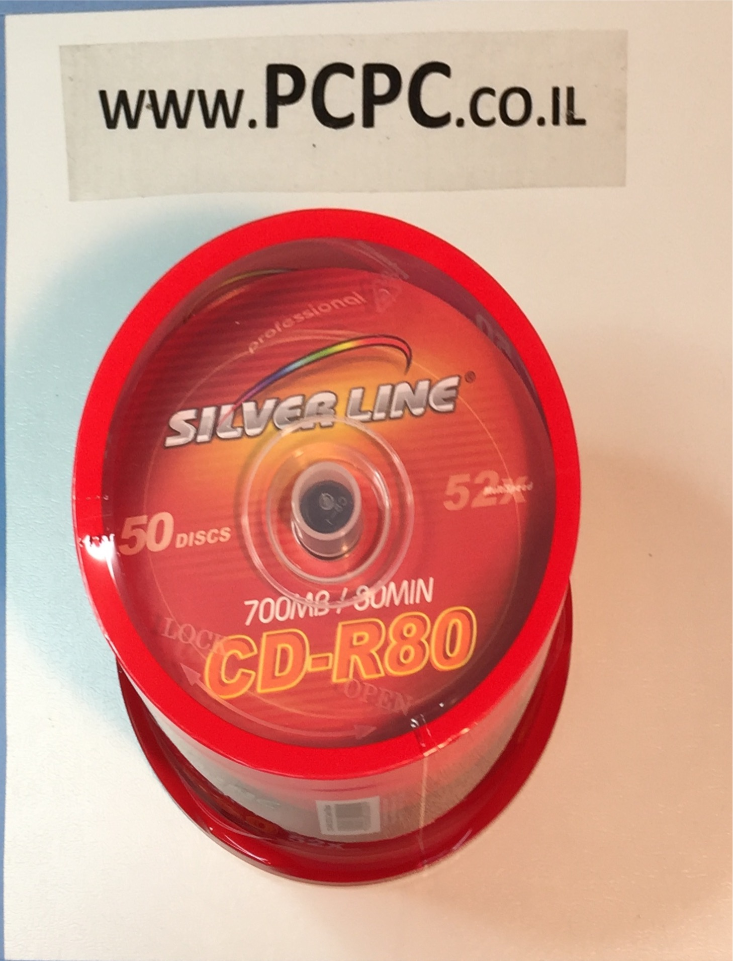 דיסקים 700 מגה  50 יחידות  SILVIER LINE CAKE