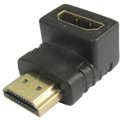 מתאם זוויתי HDMI זכר-נקבה 90  מעלות למטה 010