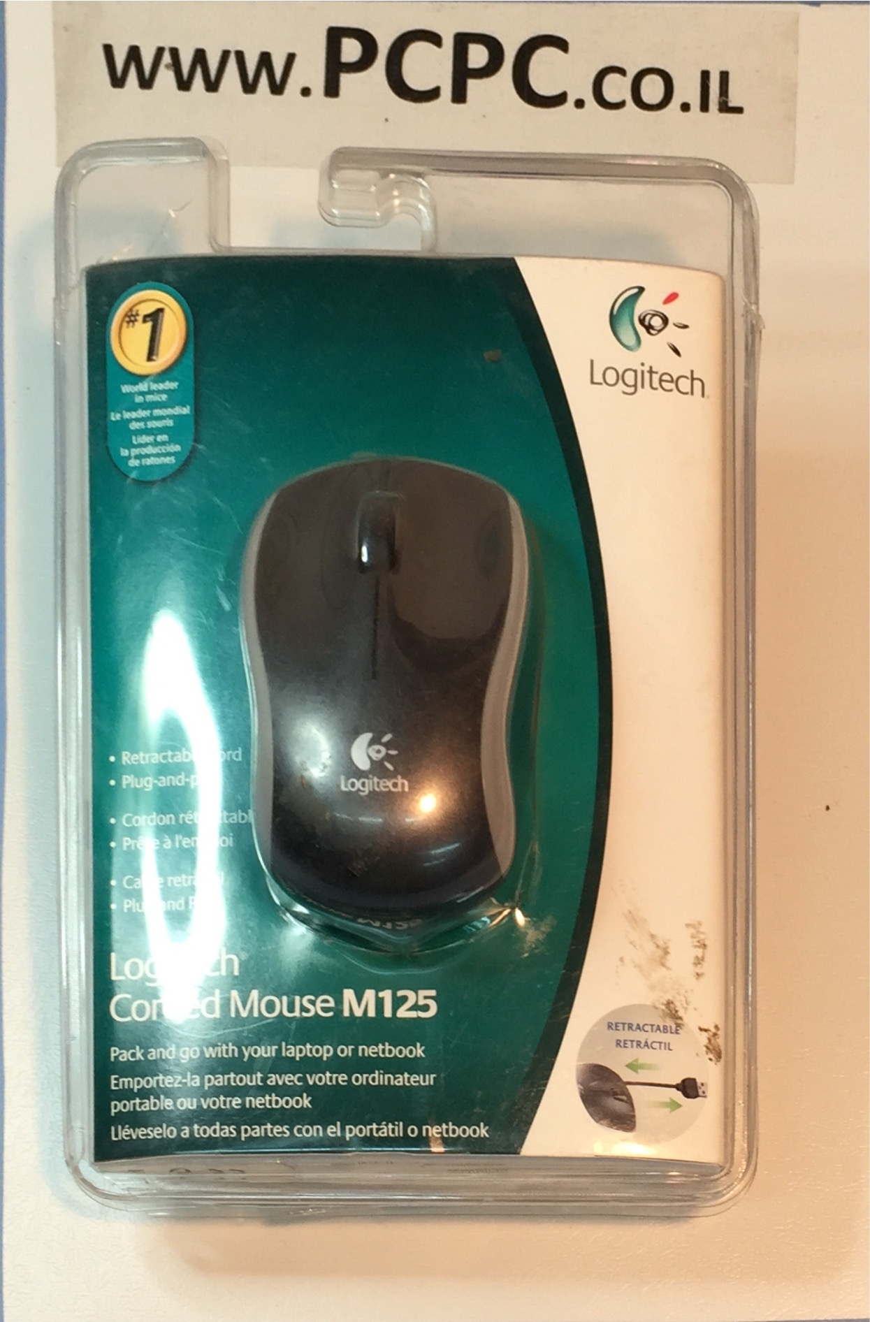 עכבר אופטי LOGITECH USB M125
