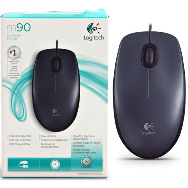 עכבר  אופטי LOGITECH  USB  M90