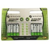 סוללה אלקליין 8 יחידות   MIRACASE  AA 1.5 VOLT