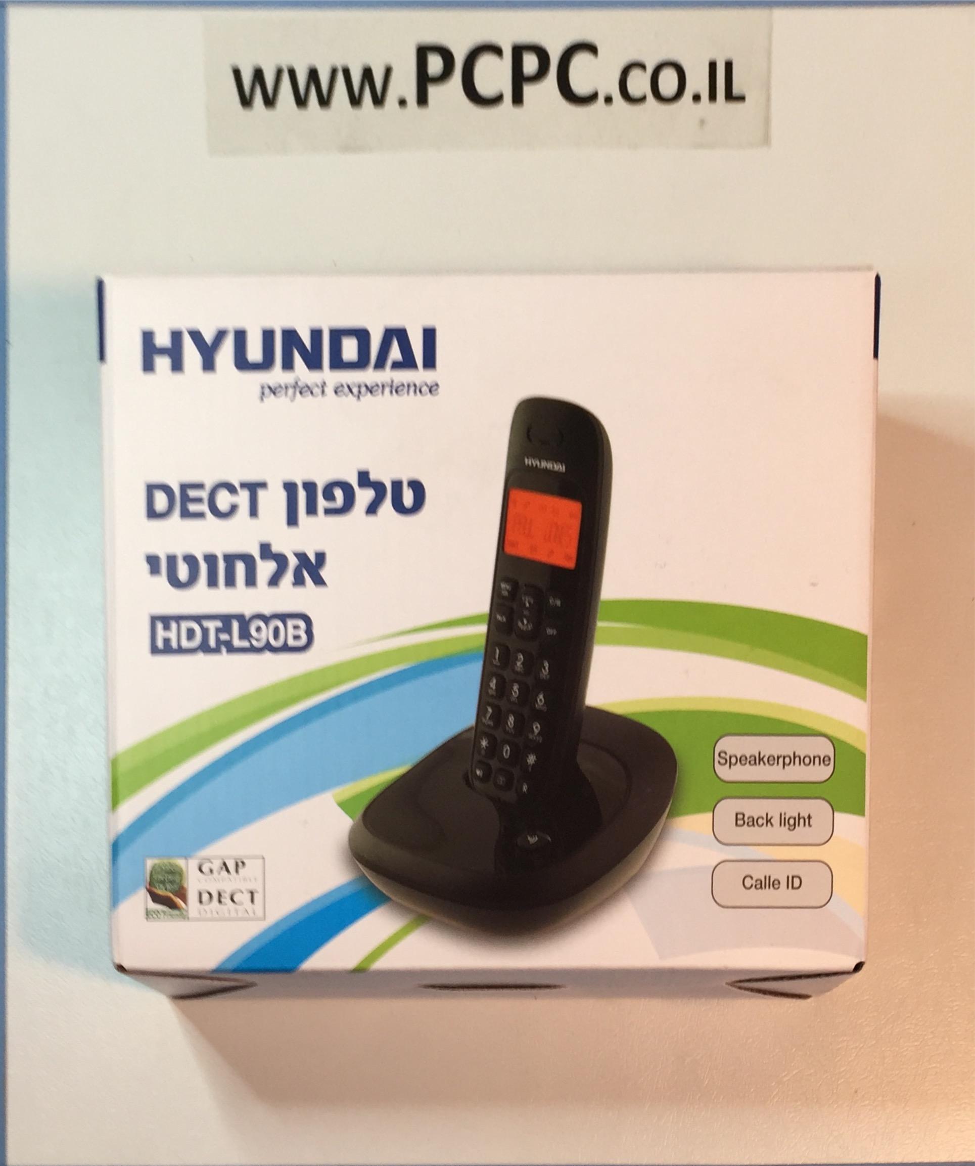 טלפון אלחוטי דקורטיבי שחור דיבורית תאורה HDT-L90B