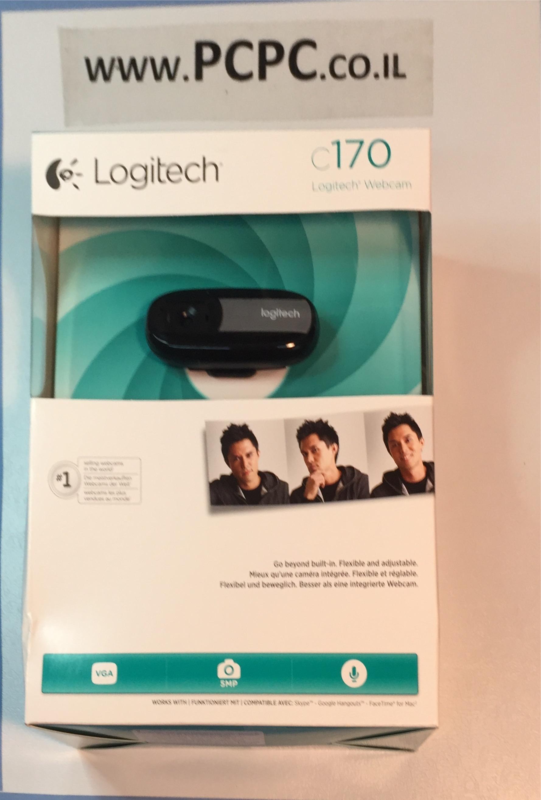 מצלמת אינטרנט+מיקרופון מובנה LOGITECH C170 5MP
