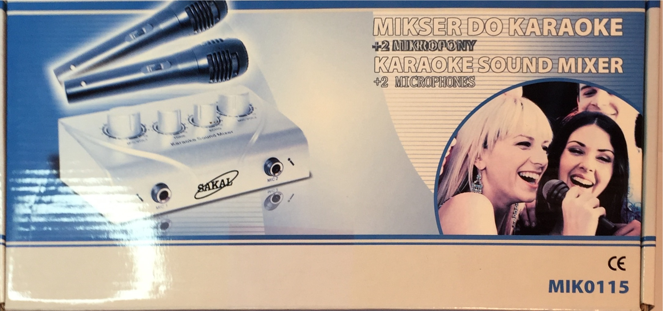 ערכת קריוקי עם זוג מיקרופונים +ספק SAKAL