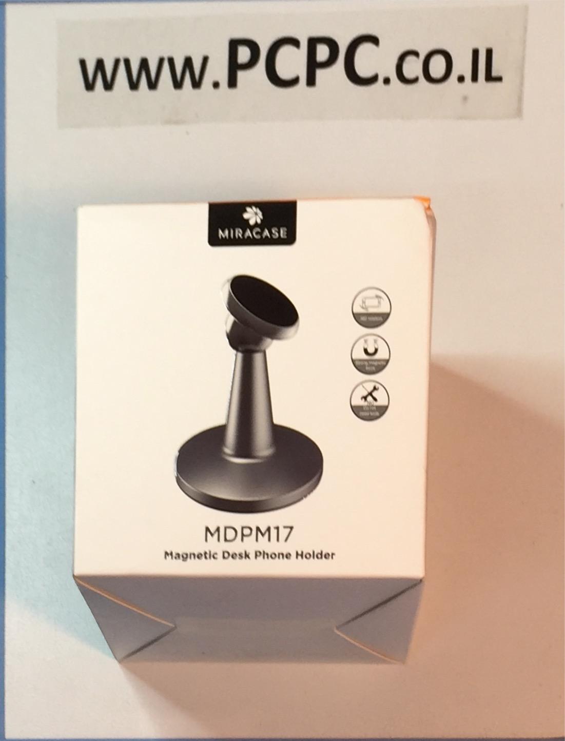 תושבת מגנטית שולחנית לטלפון סלולרי MIRACASE MDPM17
