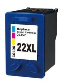 ראש דיו תחליפי צבעוני HP 22XL