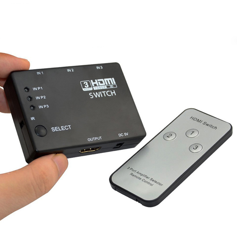 קופסת מיתוג HDMI  דיגיטלית אוטומטי  3:1  + שלט