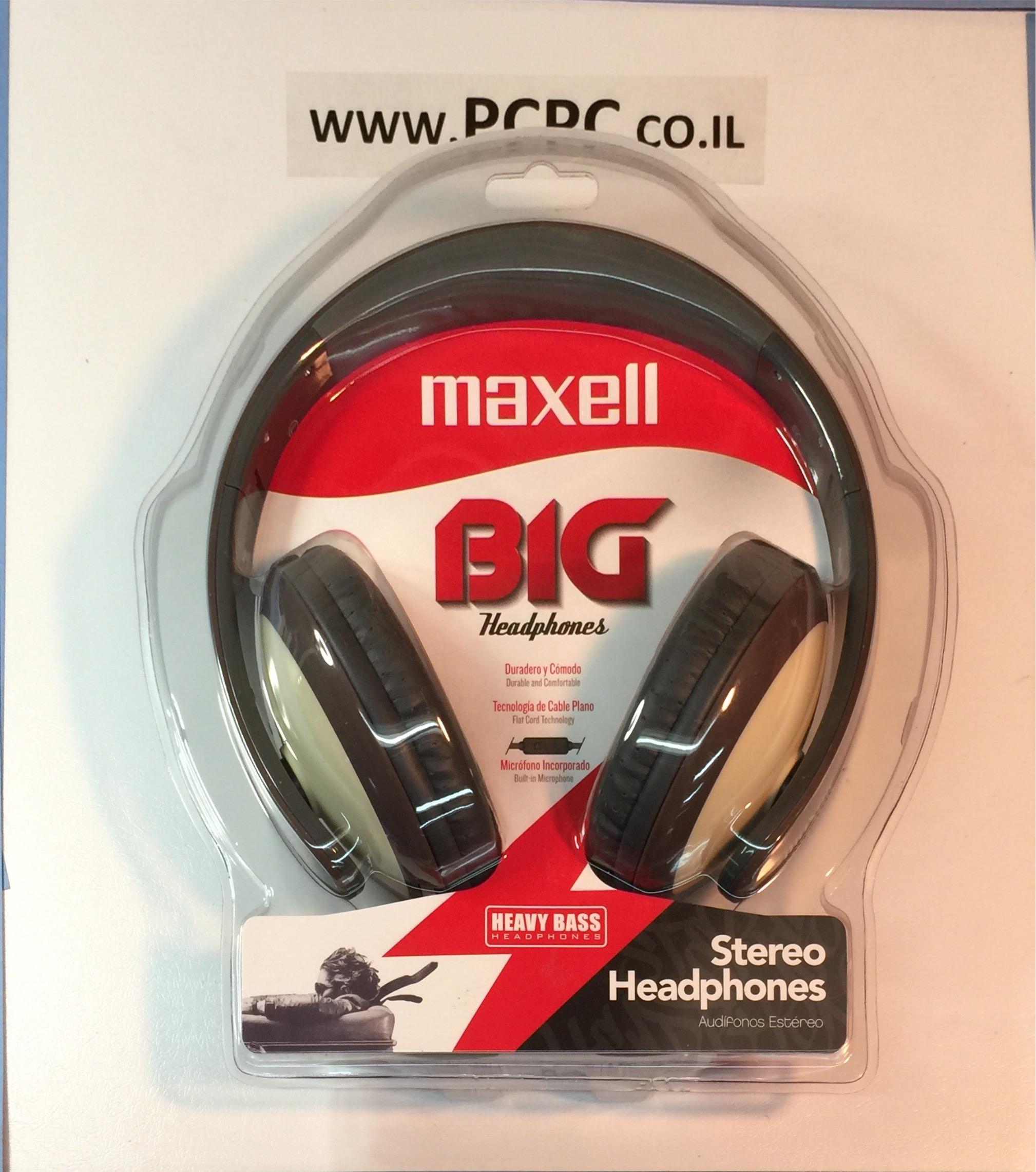 אוזניות עם מיקרופון לטלפון סלולרי MAXELL BIG-550G