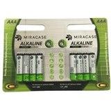 סוללה אלקליין 8 יחידות MIRACASE AAA 1.5 VOLT