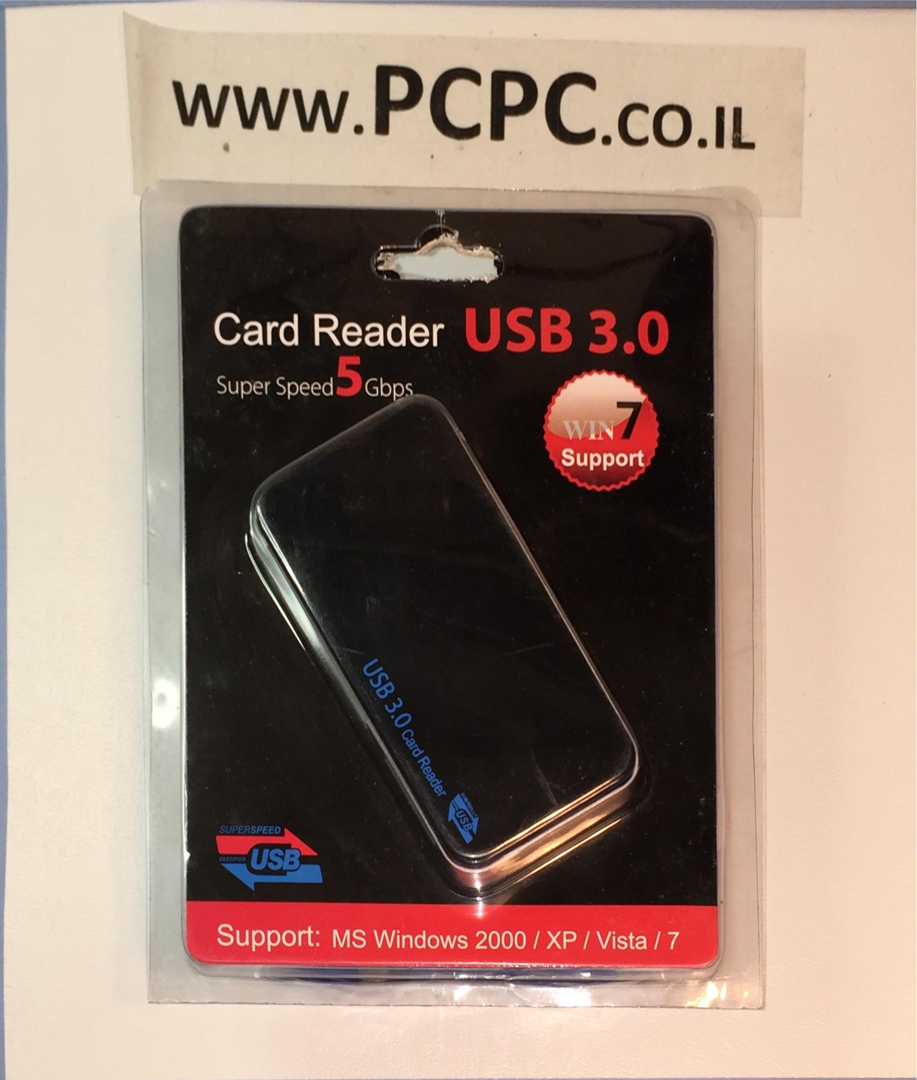 קורא כל סוגי כרטיסי זיכרון GOLD TOUCH USB-3
