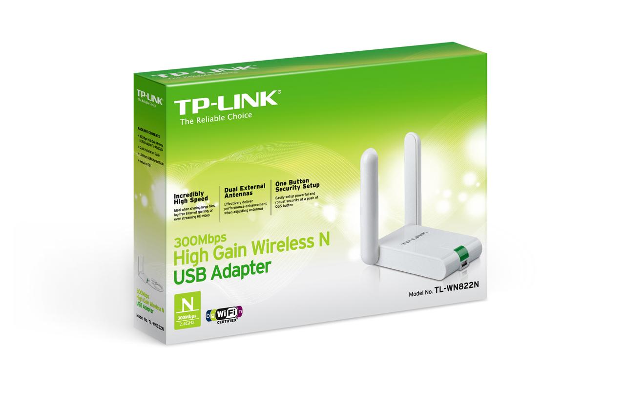 כרטיס רשת אלחוטי  USB אנטנות 2- TP LINK TL-WN822