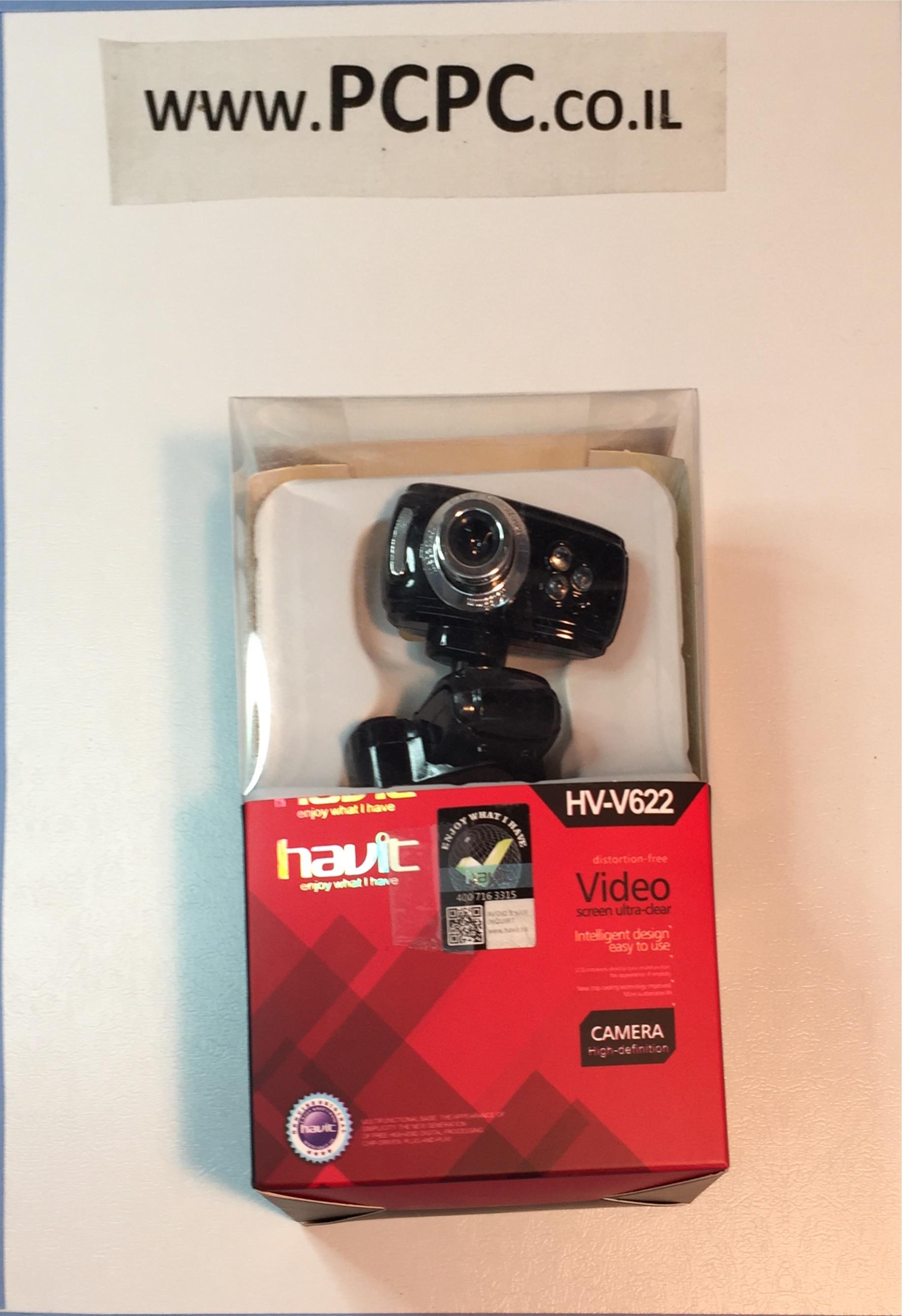 מצלמת אינטרנט+מיקרופון   תאורת לד  HAVIT V622