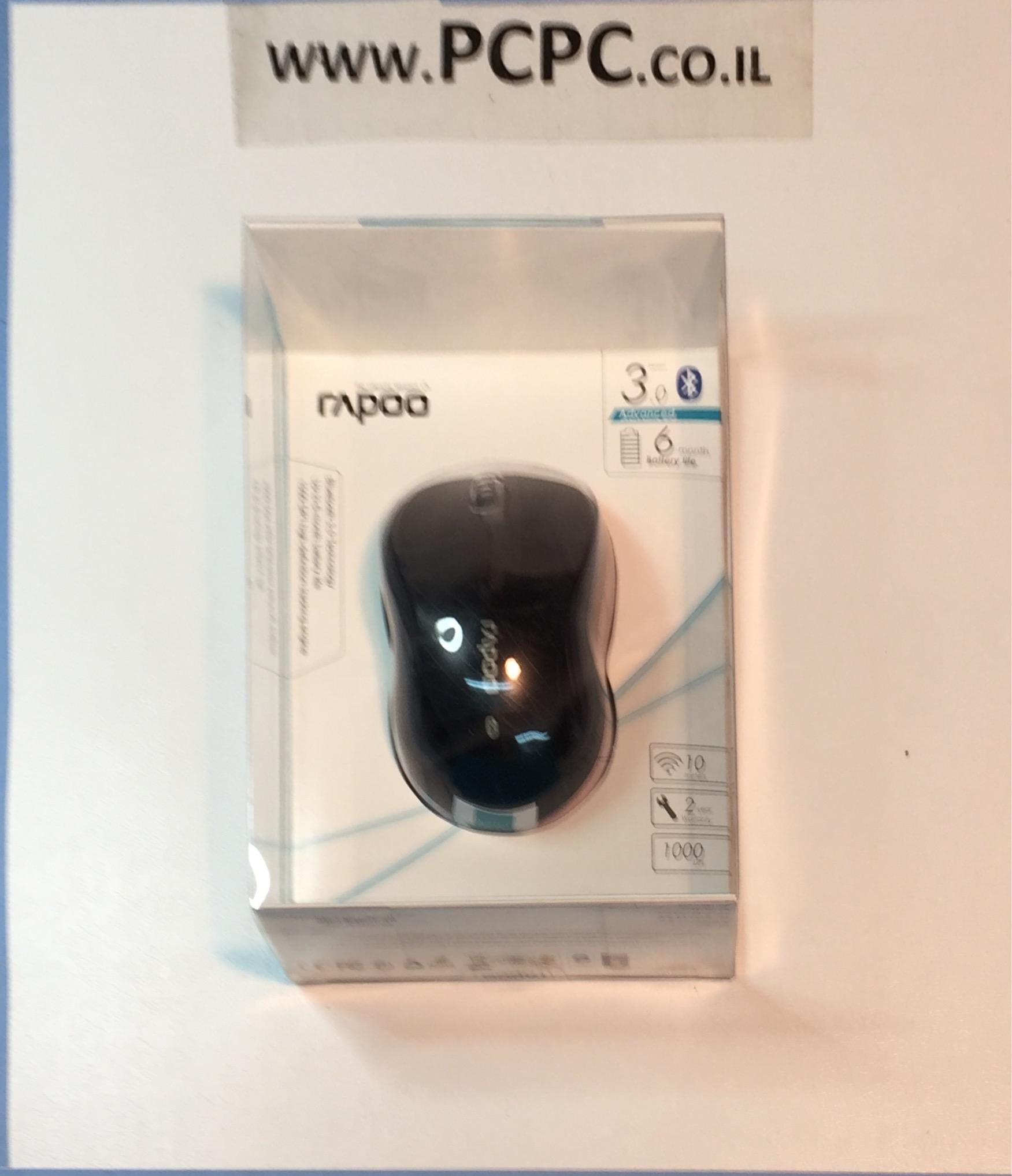 עכבר אופטי אלחוטי RAPOO 6080B BLUETOOTH