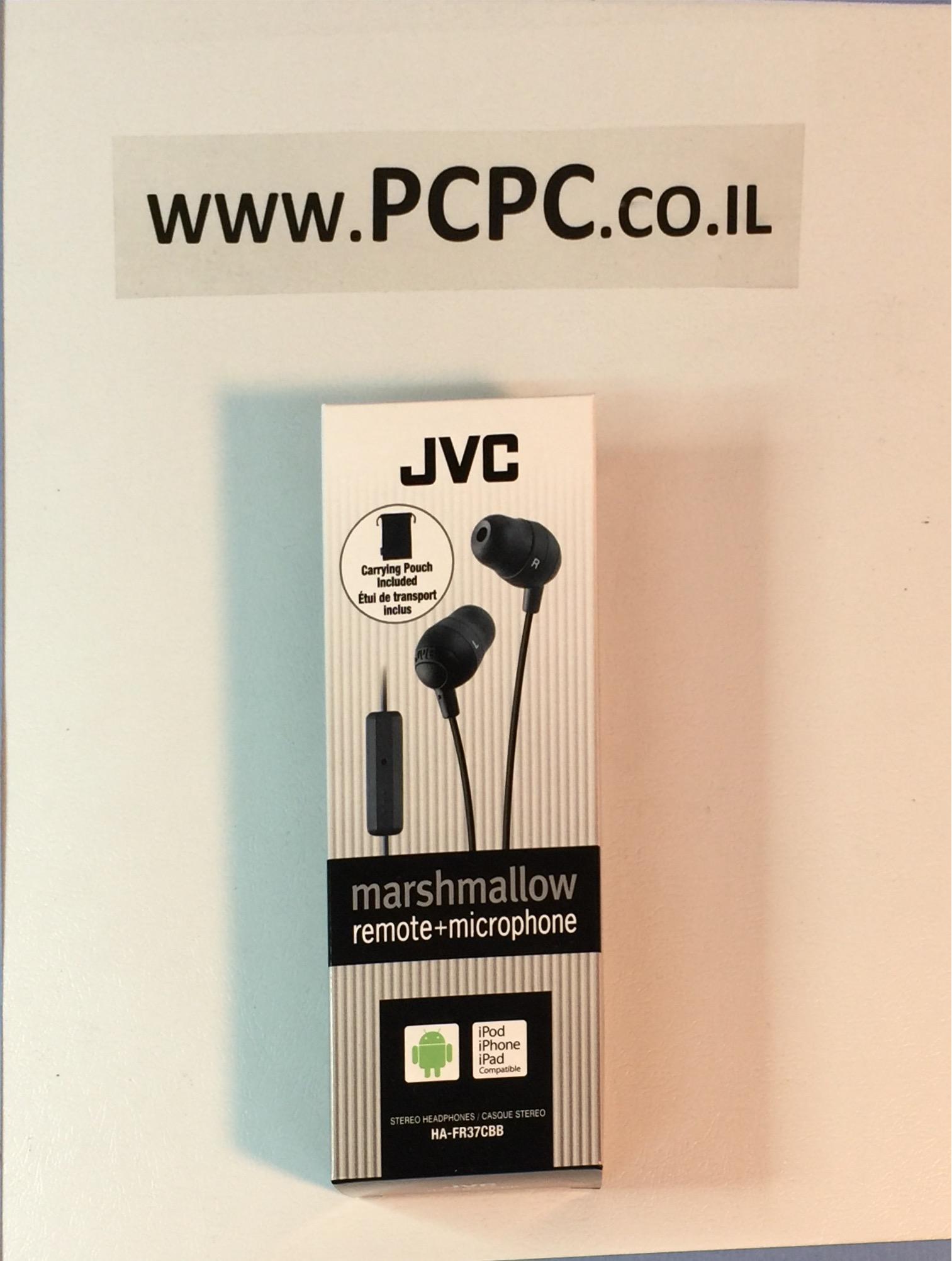 אוזניות עם  מיקרופון לסלולר JVC  HAFR37CCB