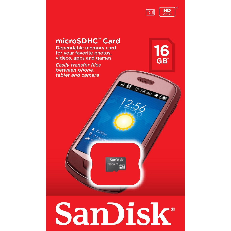 MICRO SD 16GB C-4     SANDISK