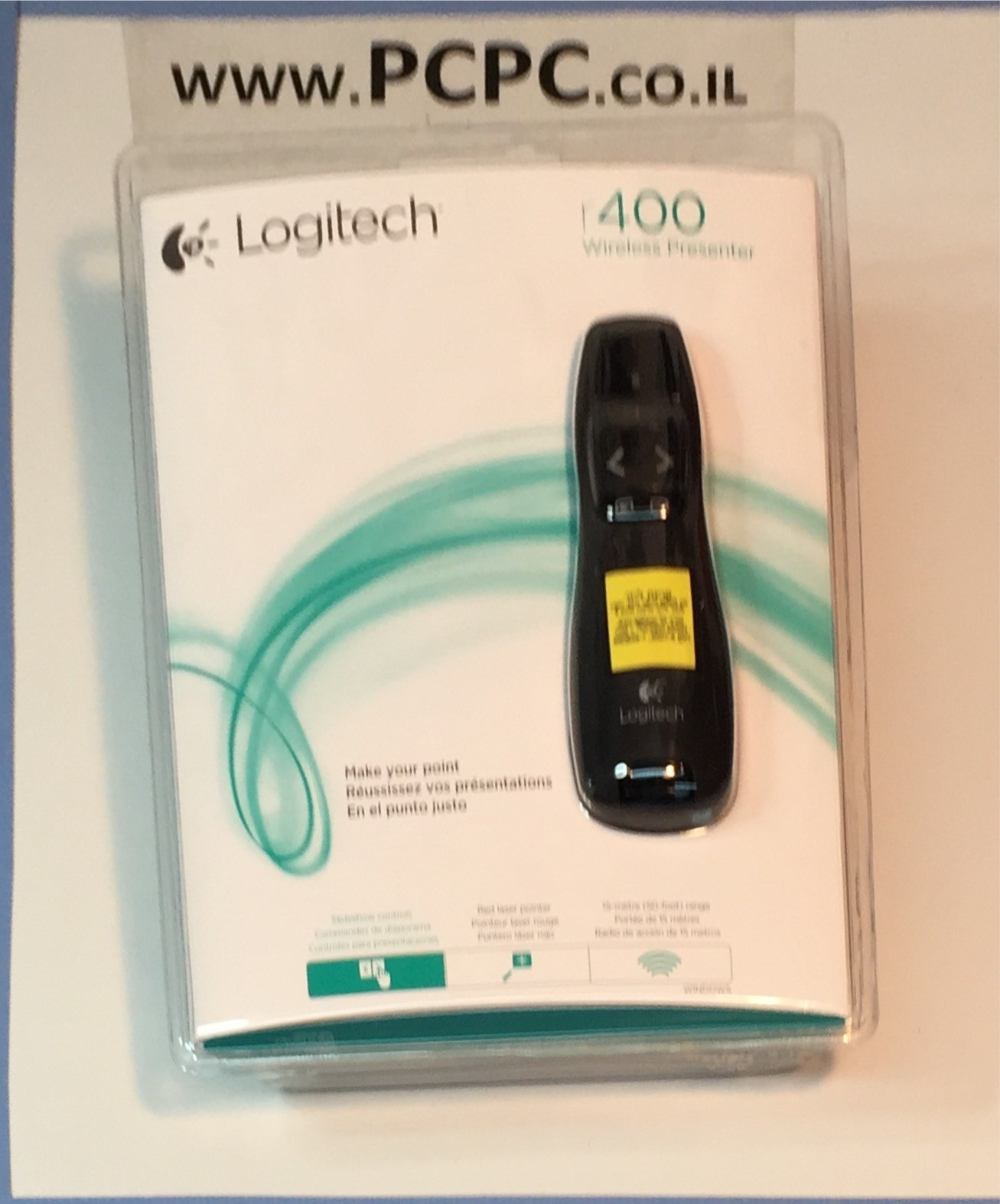 שלט אלחוטי למצגות  LOGITECH  R400  2.4GH
