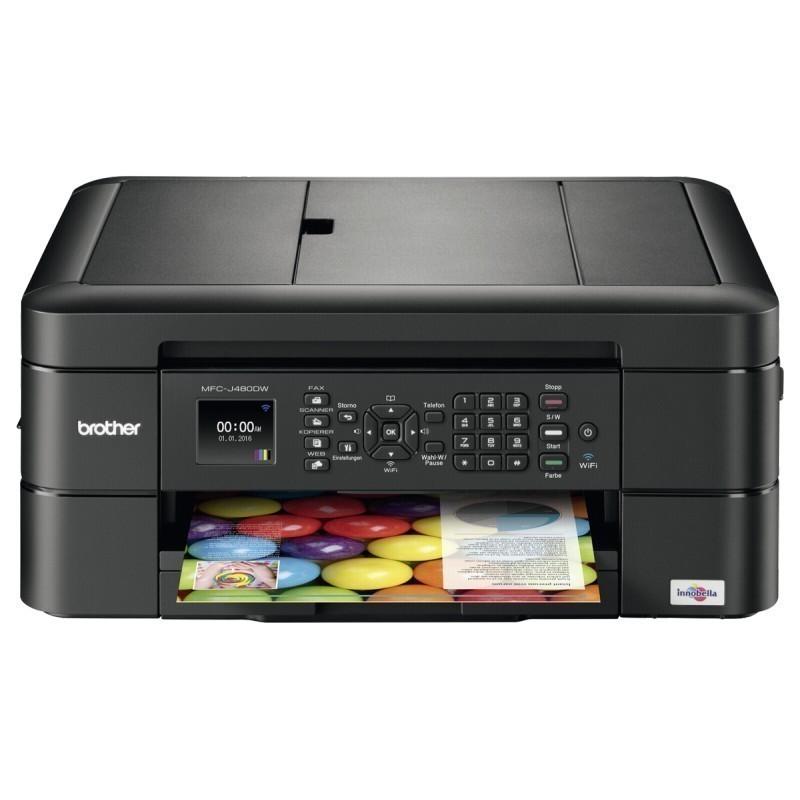 מדפסת הזרקת דיו משולבת כולל פקס אלחוטית BROTHER MFC J480 DW