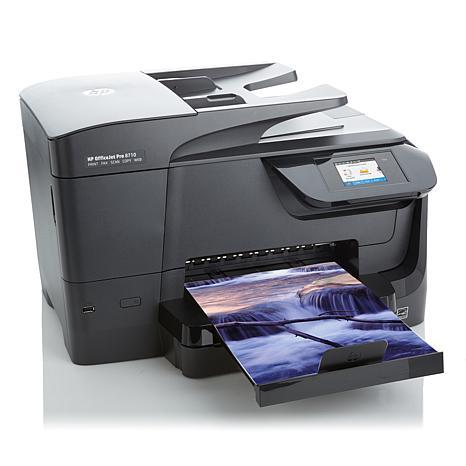 מדפסת הזרקת דיו משולבת HP AIO OFFICEJET 8710 AIO אלחוטי