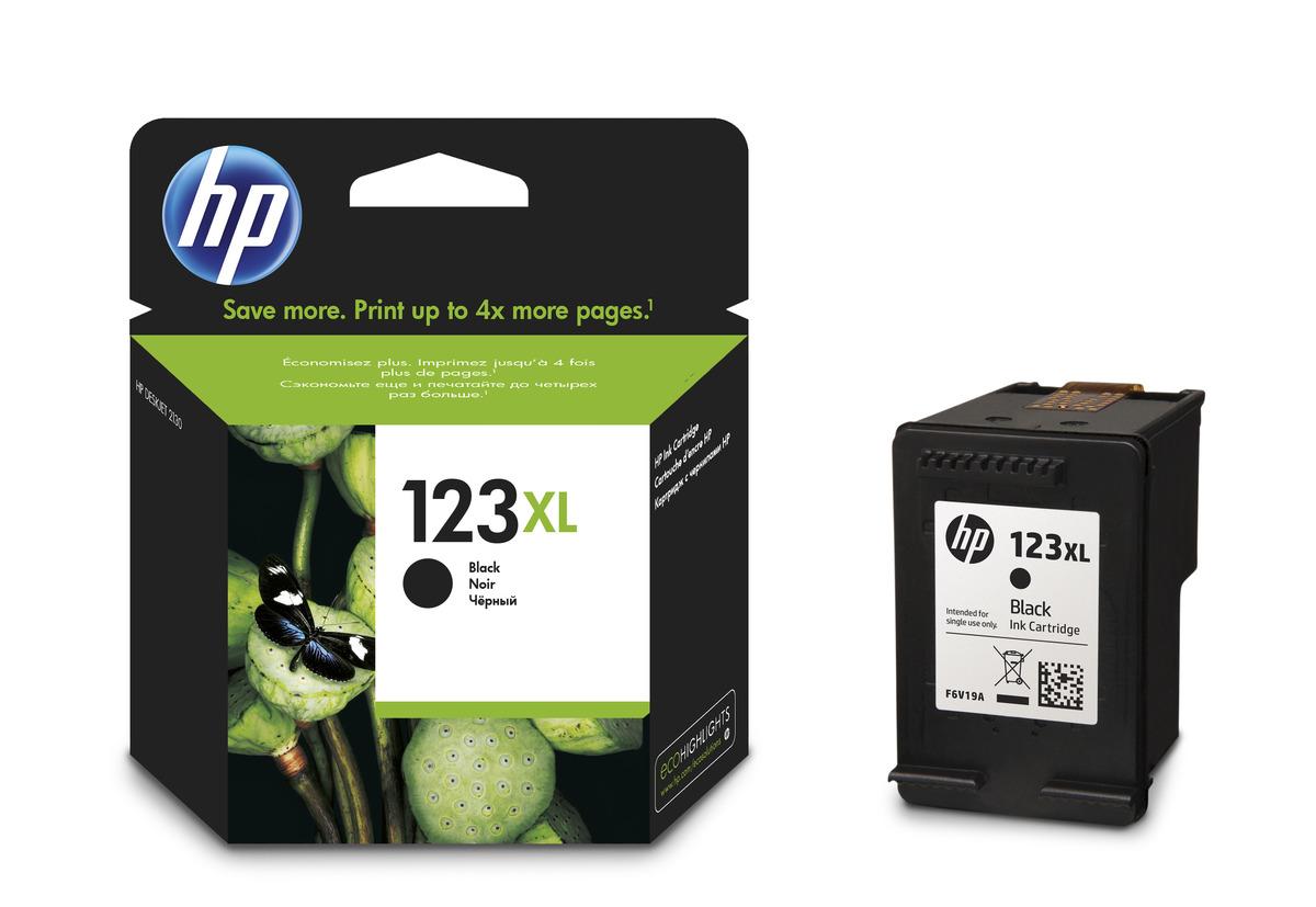 ראש דיו מקורי  שחור   HP   123XL