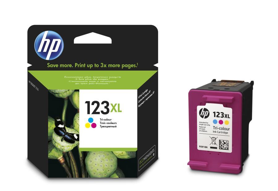 ראש דיו מקורי  צבעוני HP   123XL