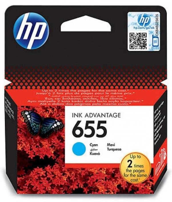 ראש דיו מקורי כחול  HP 655