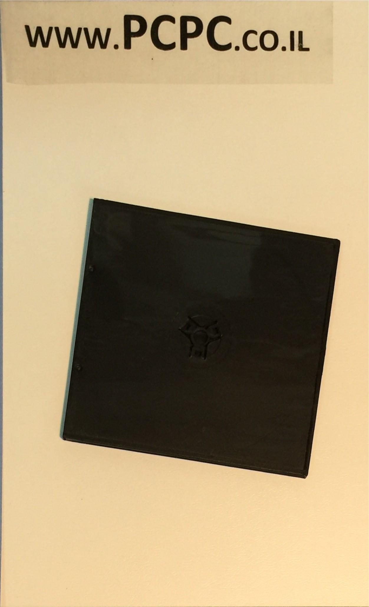 קופסה   ל 2 CDR  דקה מגש  שחור 5.2 ממ   SLIM