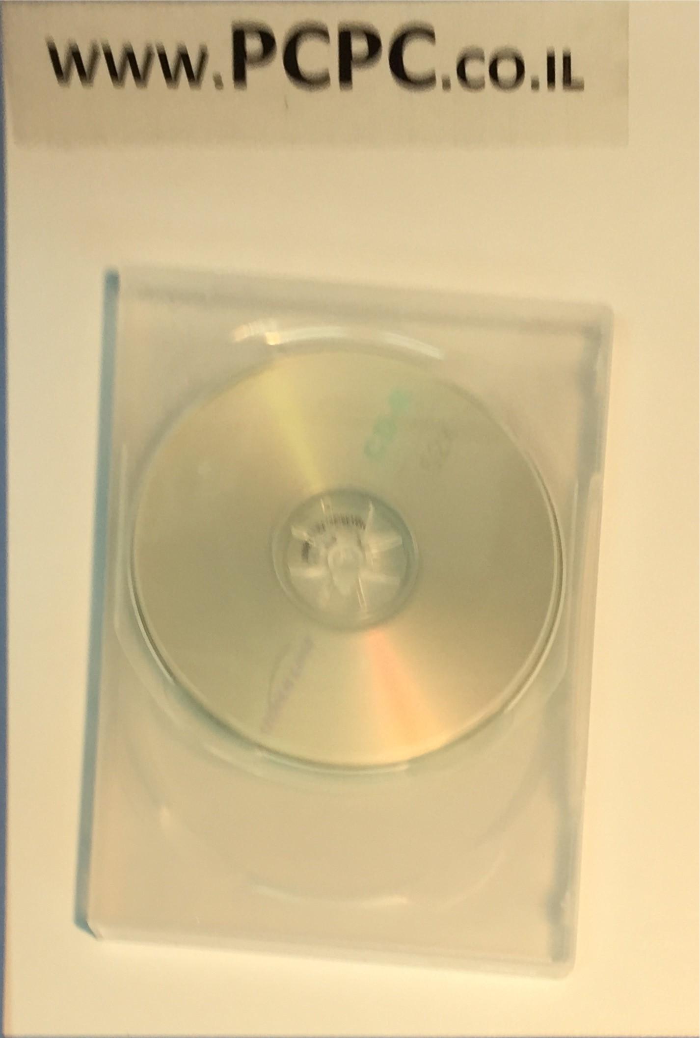 קופסה שקופה ל 2 DVD עובי 14 ממ
