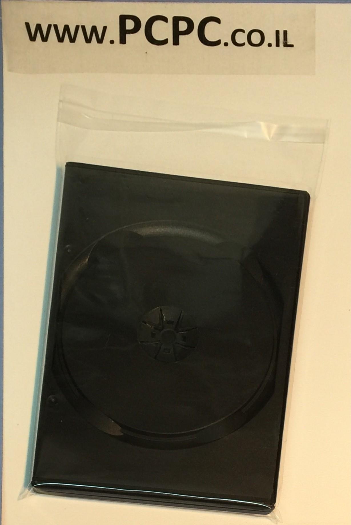 קופסה שחורה ל 1 DVD  דק SLIM  עובי 7 ממ