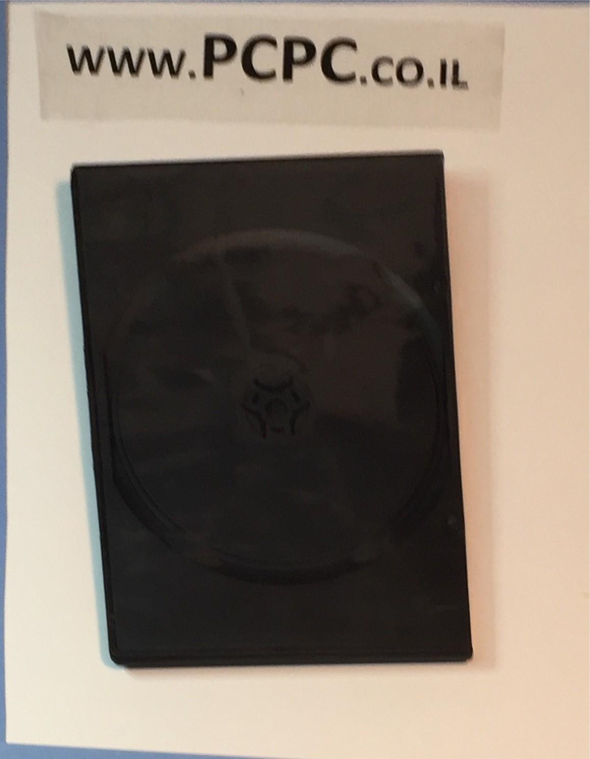 קופסה שחורה ל 1 DVD  דק חצי גודל  עובי 5 ממ