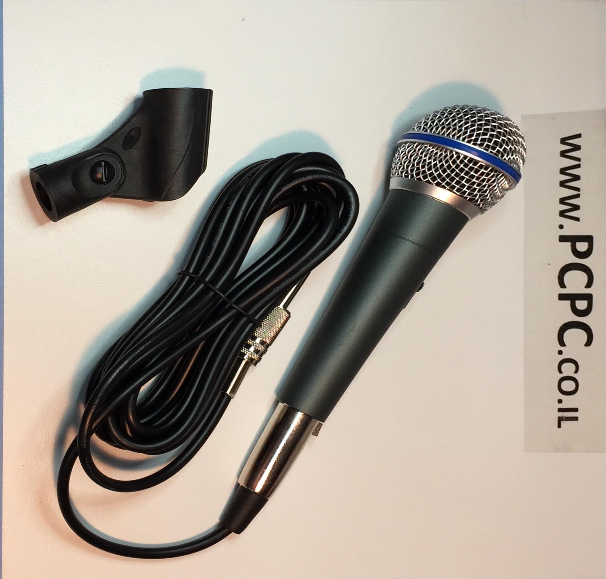 מיקרופון קנון שחור BETA-58 SAKAL