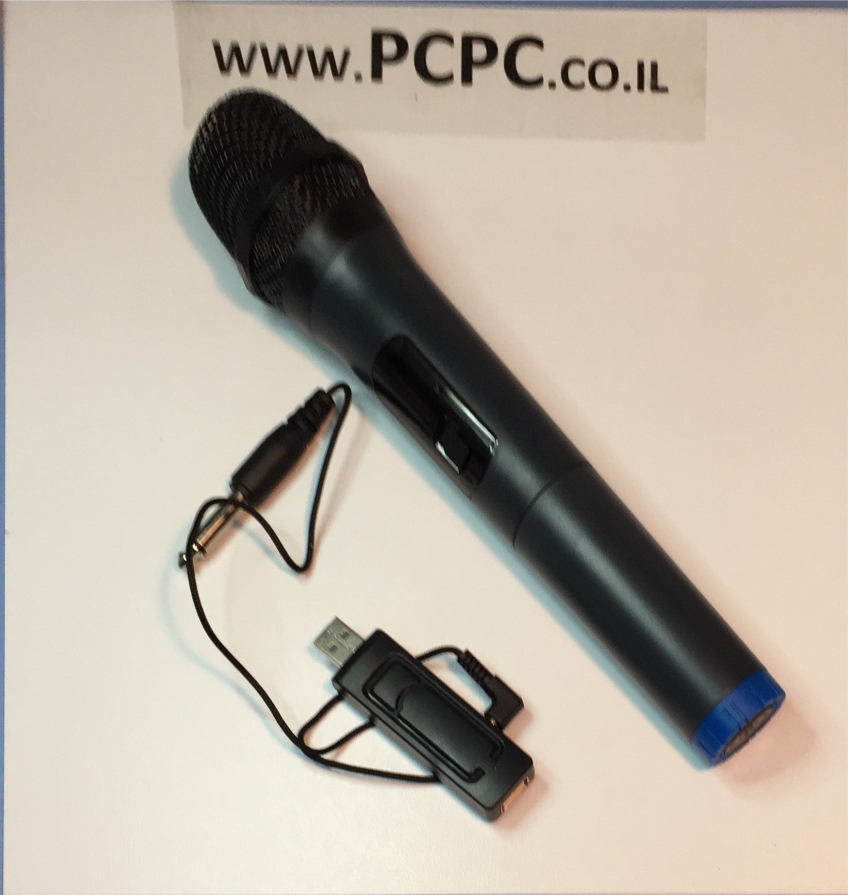 מיקרופון אלחוטי+מקלט שולחני PRO AUDIO WR-V18