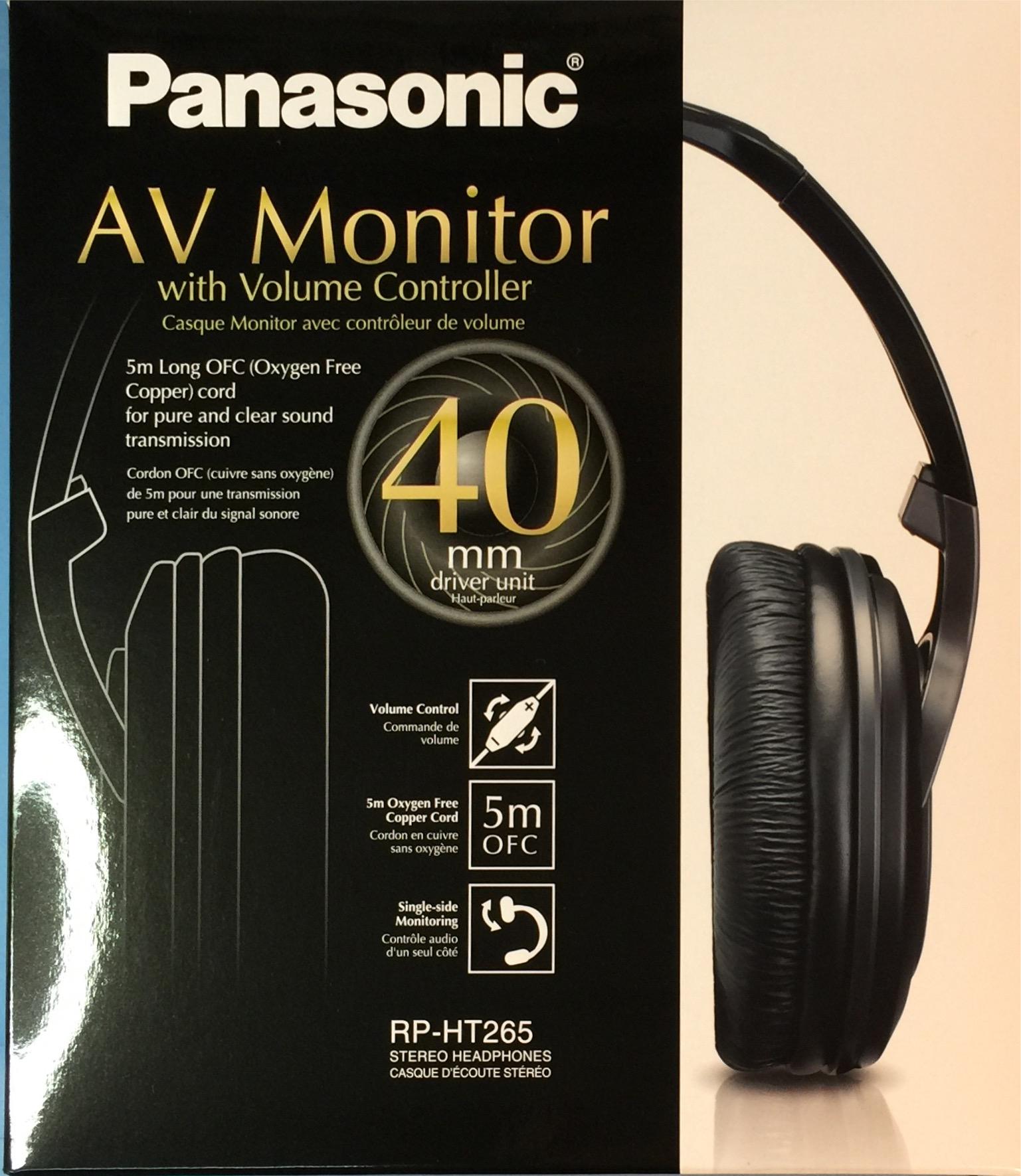 אוזניות PANASONIC TV RP-HT265E-K