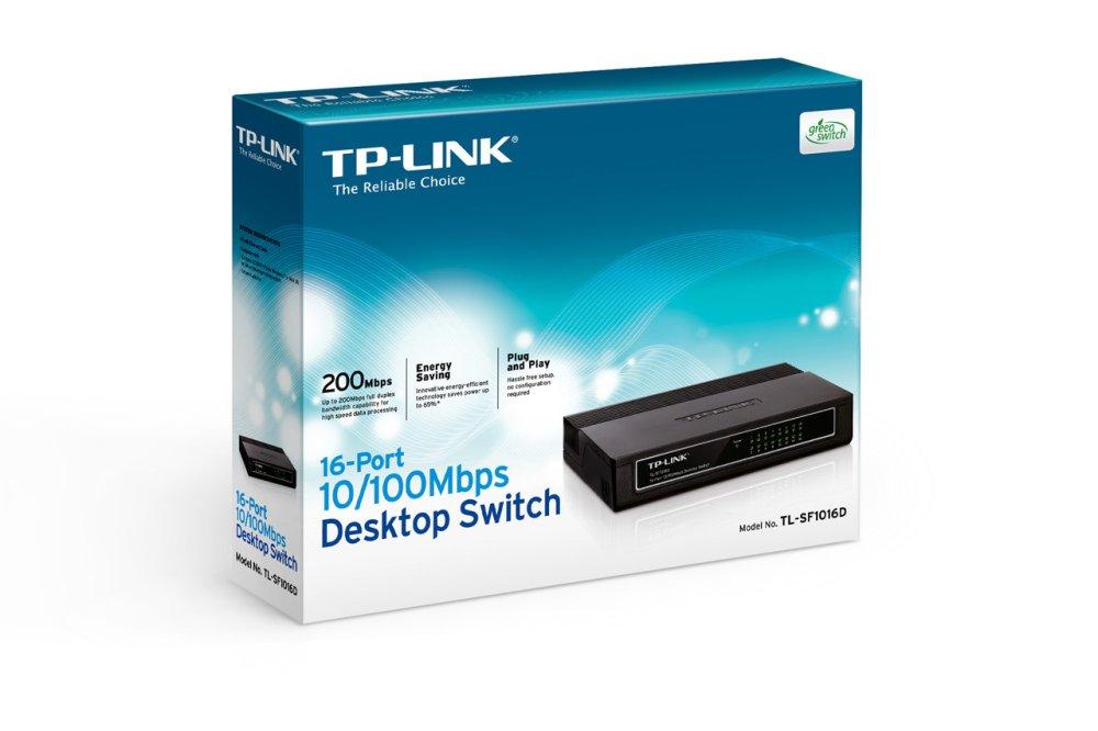 רכזת 16 יציאות TP LINK SF 1016D SWITCHHUB 10-100-