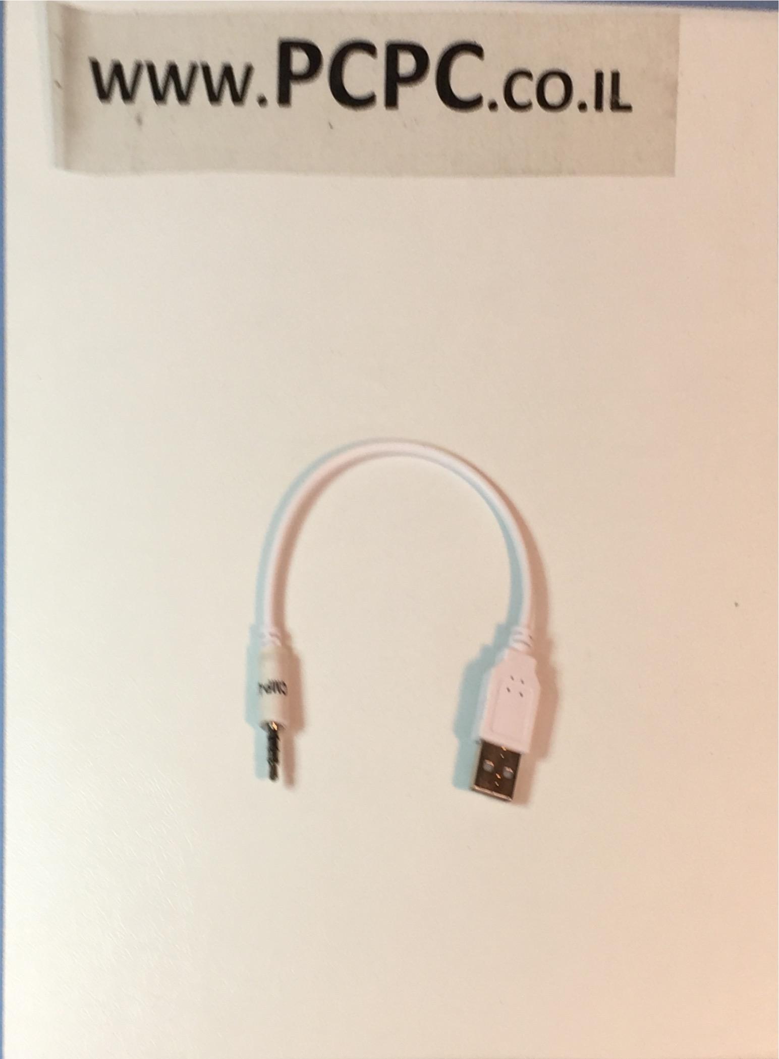 כבל סינכרון טעינה מusb ל    PL3.5  מתאים ל MP3/4/5