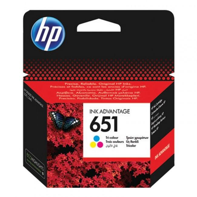 דיו מקורי HP 651 צבעוני