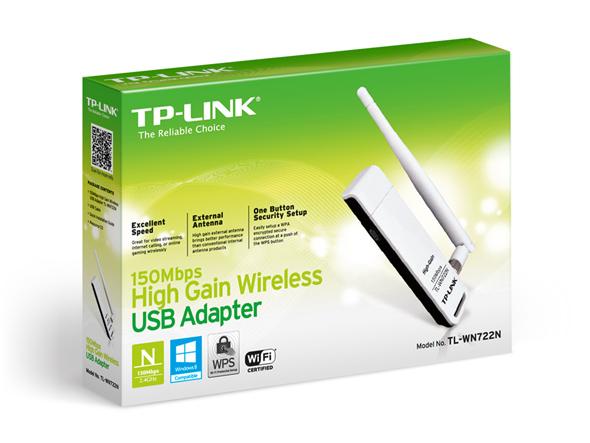 כרטיס רשת אלחוטי USB דגם TP LINK TL-WN722N N-LITE
