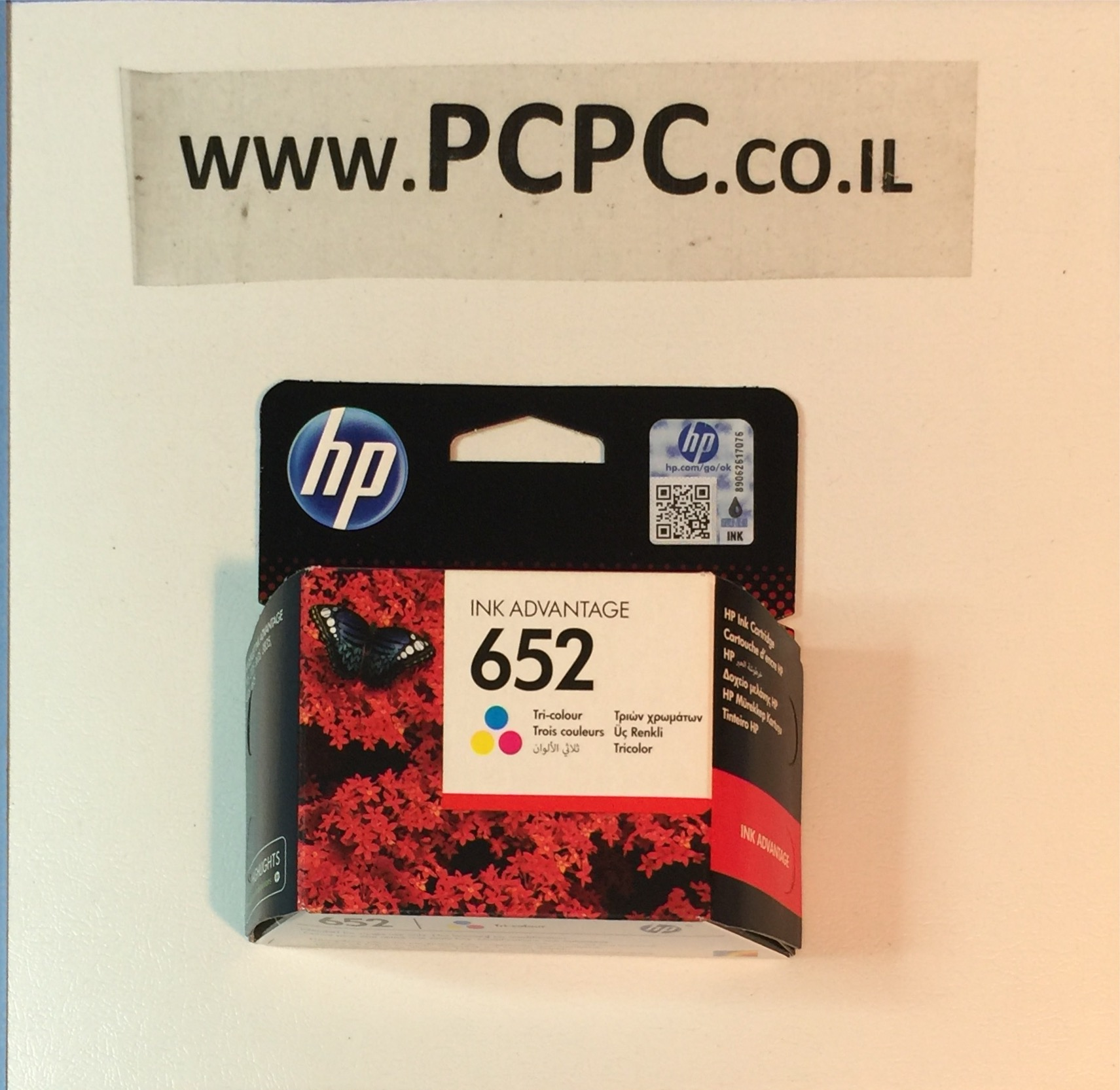 ראש דיו מקורי צבעוני  HP  652
