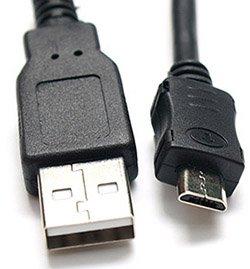 כבל USB2 ל מיקרו USB אורך 0.5 מטר