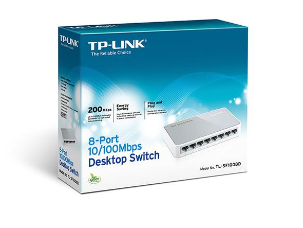 רכזת 8 יציאות TP LINK TL-SF1008D 10-100