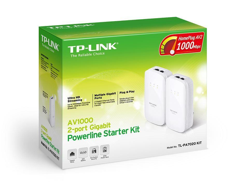נקודת רשת חשמל זוג TP-PA7020KIT 1000M  TP LINK