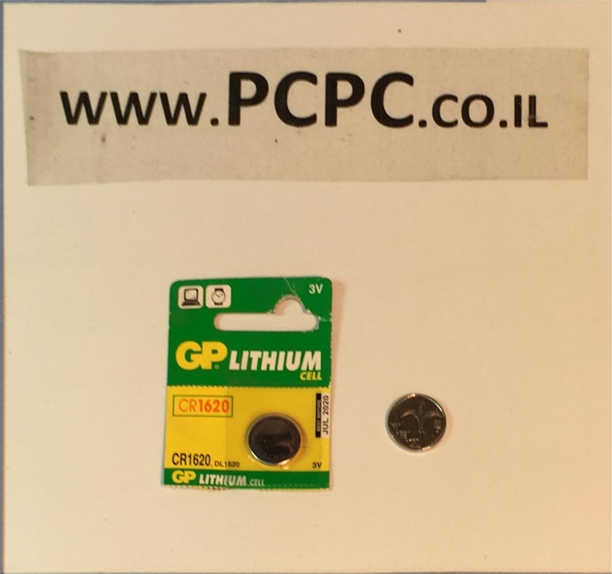 סוללה ליתיום כפתורGP CR 1620