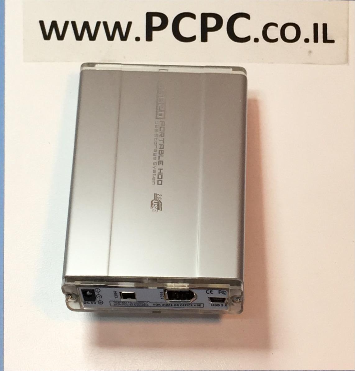 מארז 2.5 אינטש ל   hard disk SATA USB2+ FW
