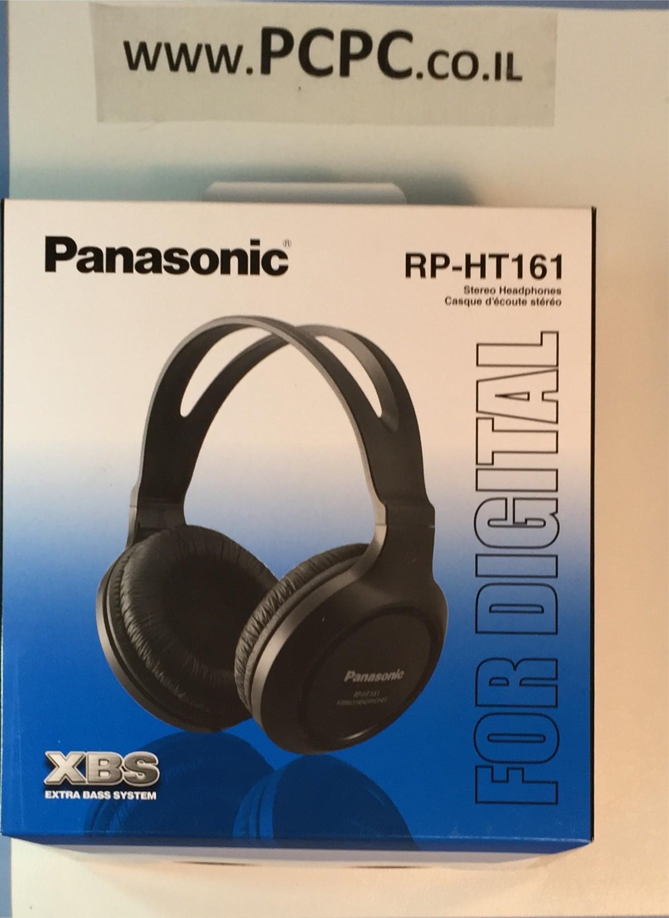 אוזניות סטראו קשת   PANASONIC RP-HT-161         שחור
