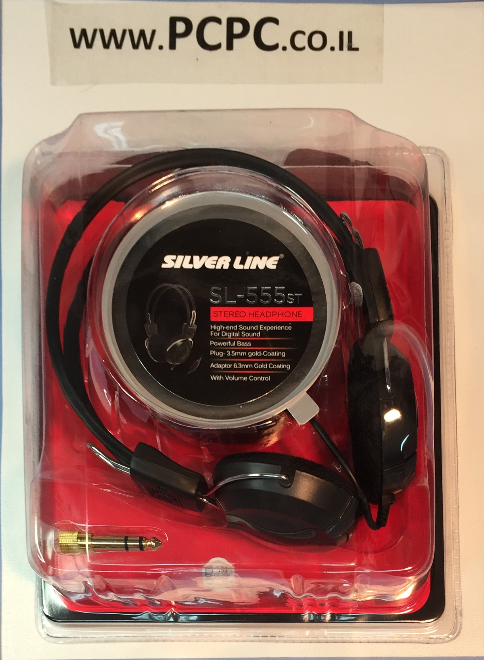 אוזניות קשת ל TV  עם ווליום כבל 3.5 מטר  SILVER LINE-555ST