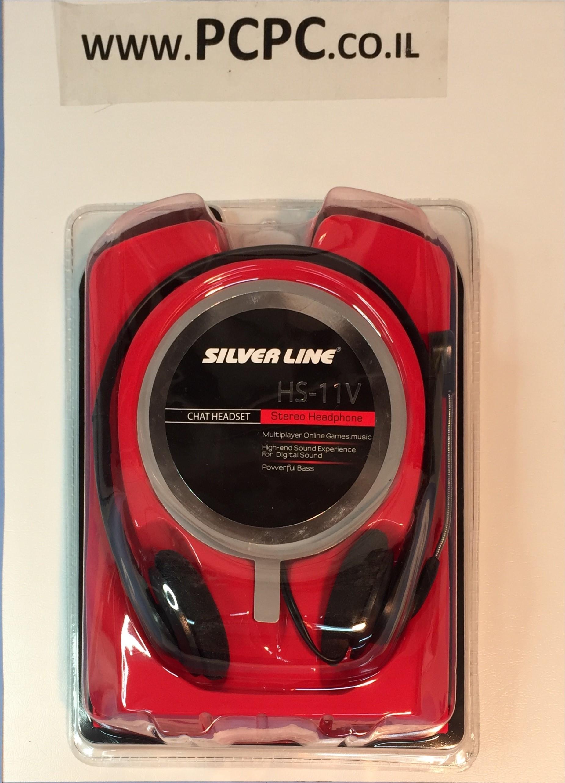 אוזניות+מיקרופון SILVER LINE HEADSET XS-11 V