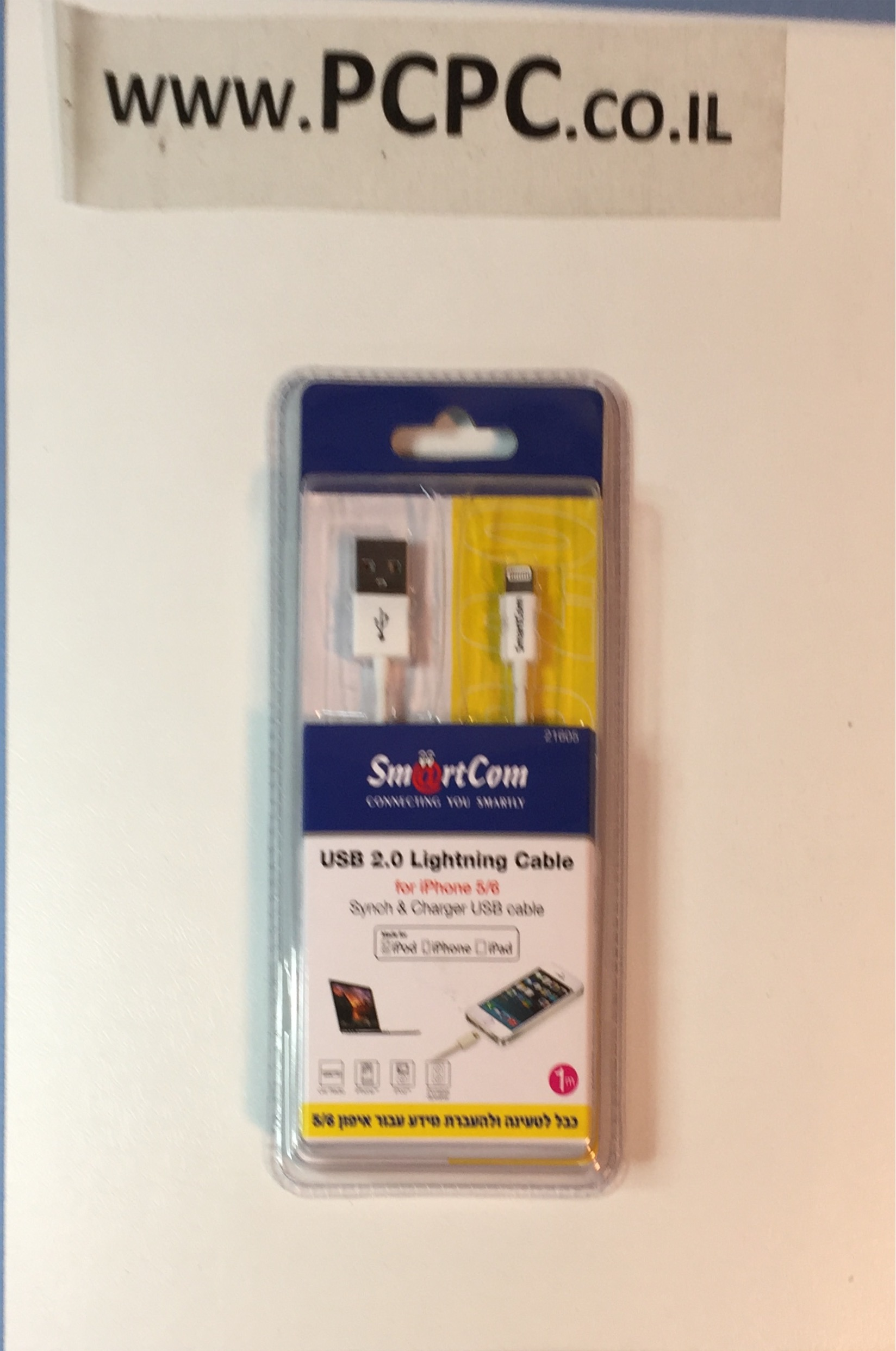 כבל   LIGHTNIG  USB לסינכרון  והטענה לאייפון  5/6/7 אורך 1 מטר    מאושר אפל MIRACASE