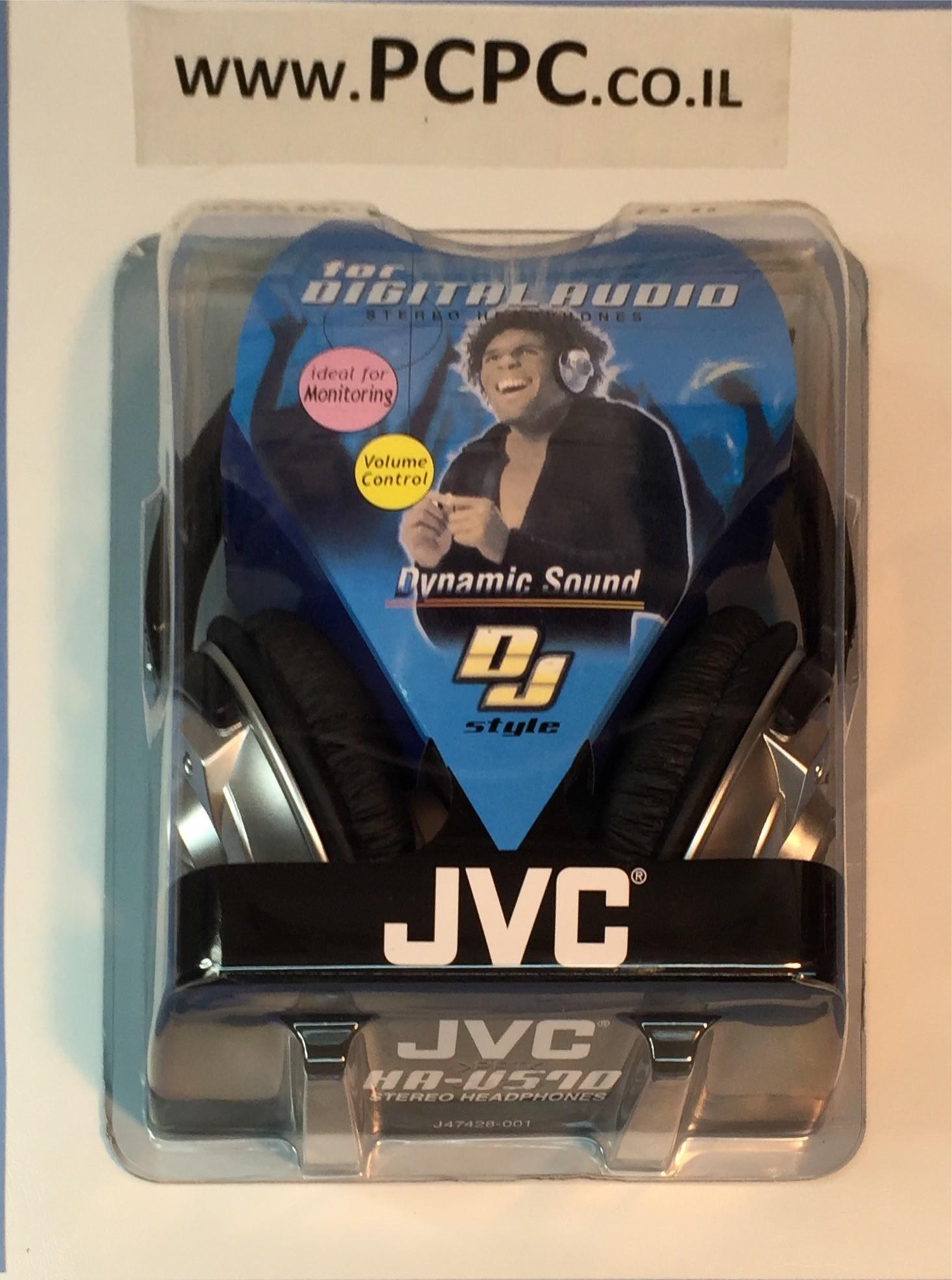 אוזניות סטראו קשת JVC HAV-570-K  DJ