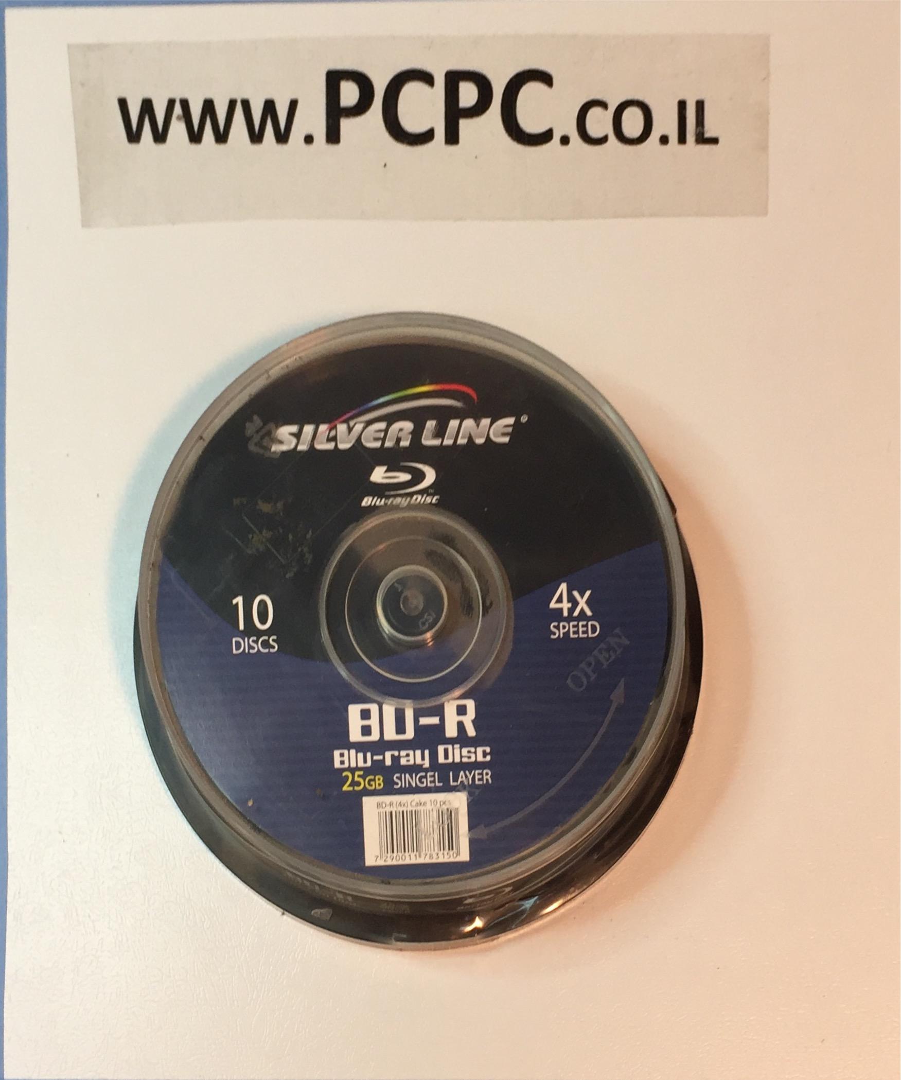 סט 10 יחידות  SILVER LINE BLU-RAY 25GB X4