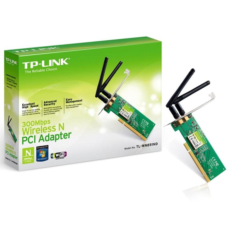 כרטיס רשת אלחוטי   PCI TP LINK WN851N 300M 2 אנטנות
