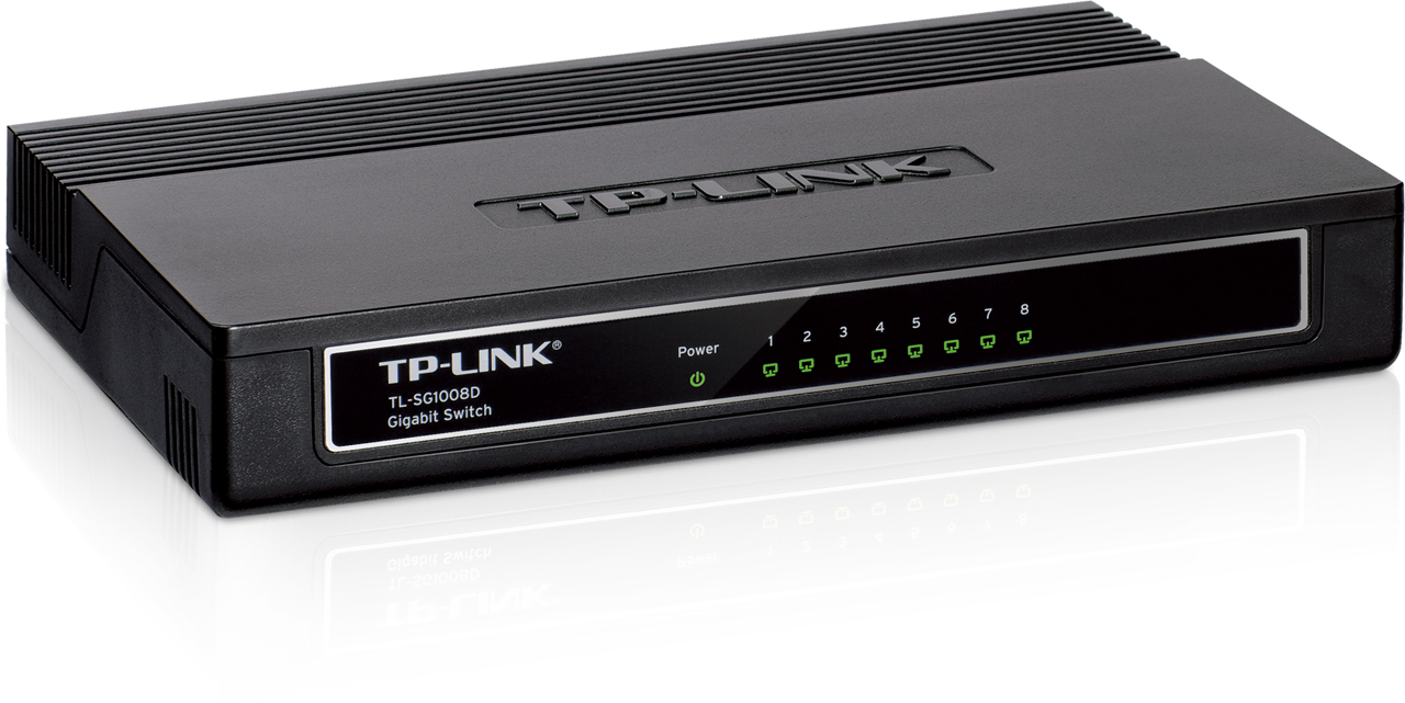 רכזת 8 יציאות  TP-LINK TP-SG1008D SWITCHHUB 10-100 -1000